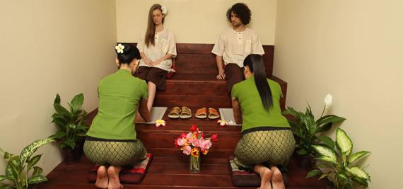 Тайландски масаж на ходилата